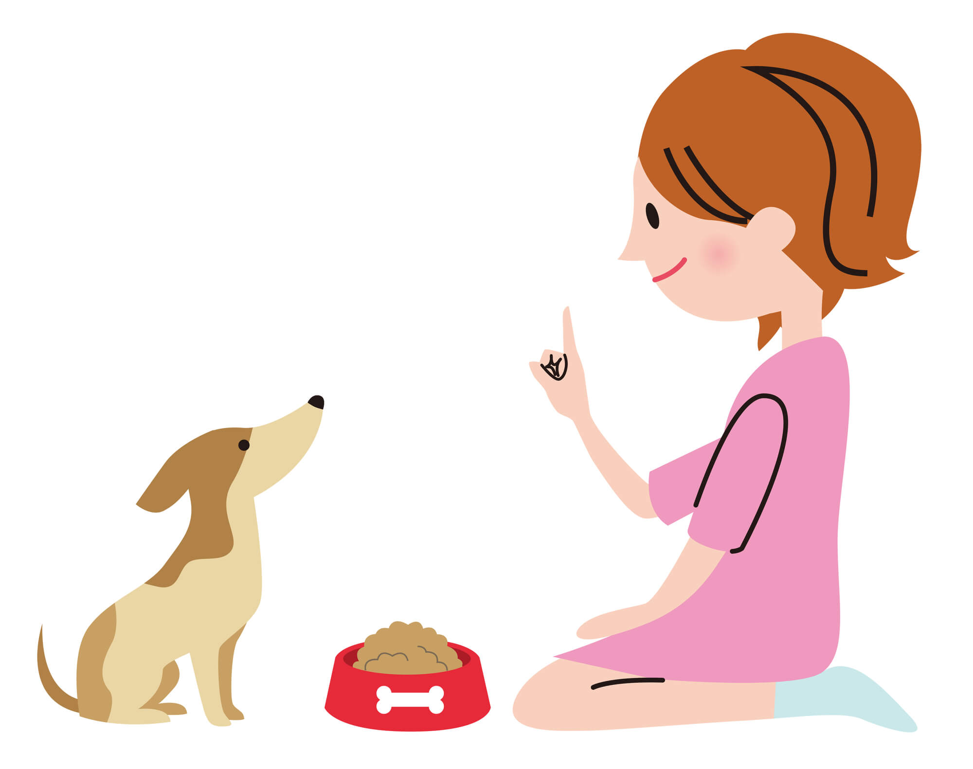 女性と愛犬