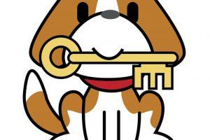 鍵を預かる犬のイラスト